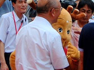 せんとくんと奈良県知事