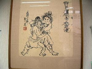 相撲の取組 葛城市相撲館