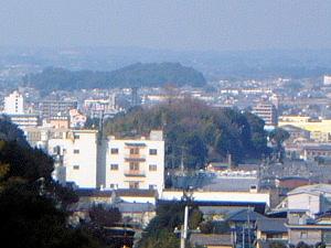 箸墓古墳 聖林寺からの眺望