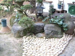 中庭の玉砂利 お気に入りの旅館