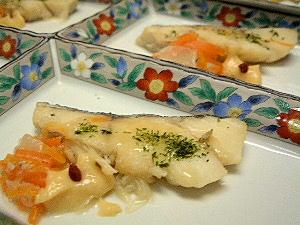 タラの香味野菜蒸し 料理案内