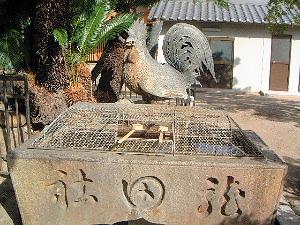 龍田神社の手水