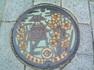 田原本 町の中のマンホール