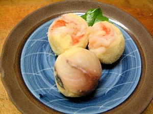海老の手鞠寿司