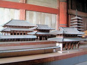東大寺の七重塔 伽藍