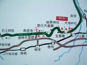 山の辺の道マップ